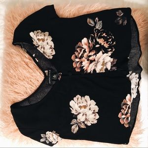 🌑FLOWER CROPPED BLOUSE🌑